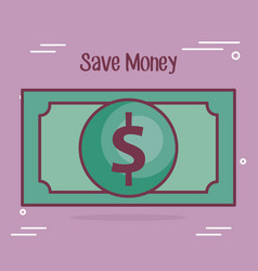 save mpney bill dollar icon vector image