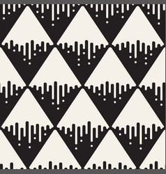seamless pattern with geometric spots monochrome vector image