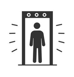 Signaling portal metal detector glyph icon vector