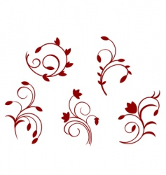 Simplicity floral decorations vector