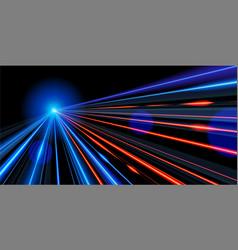 slow shutter traffic light in vector image