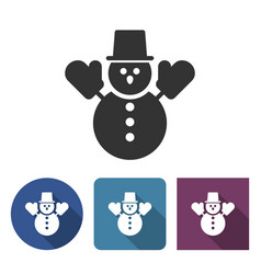 snowman icon in different variants vector image