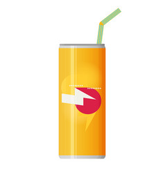 soda can flat vector image