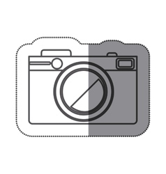 Sticker silhouette with photographic camera vector