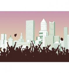 street celebration vector image