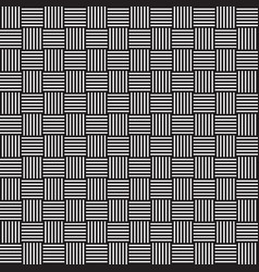 stylish weaved black and white geometric pattern vector image