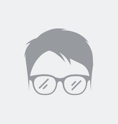 stylized avarar portrait face vector image