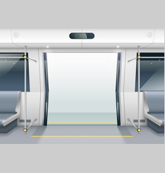 Subway car doors vector
