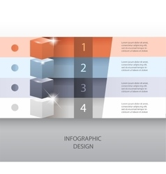 template for infographic or web design vector image