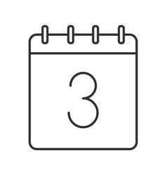 third day month linear icon vector image
