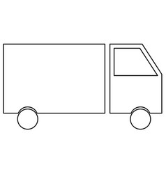 Truck the black color icon vector