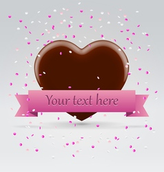 Valentines day chocolate sweet heart vector