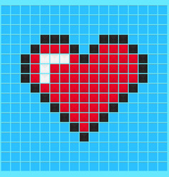 Video game heart vector