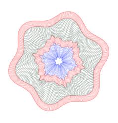watermark guilloche design for background certifi vector image
