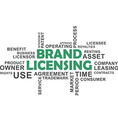 word cloud brand licensing vector image