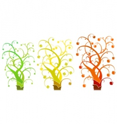Abstract tree - set vector image vector image