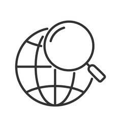 Global search line icon vector image