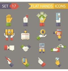 Retro Business Hands Symbols Finance Accessories vector image vector image