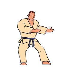 hand drawn character man in kimono vector image
