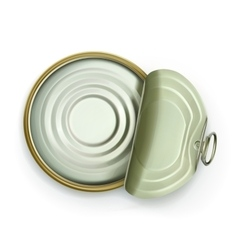 Open tin can top view icon vector image vector image