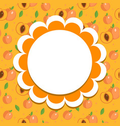 peach label wrapper template for your design vector image vector image