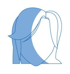 Portrait head female hairstyle modern vector