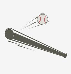 baseball bat and ball simple vector image