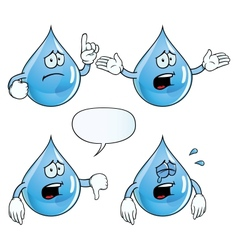 Crying water drop set vector image vector image