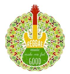 guitar on ornate mandala background vector image