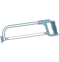 Metal saw tool vector image vector image