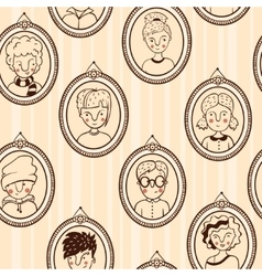 Seamless texture frame with kids vector image