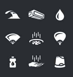 set of cooling icons vector image