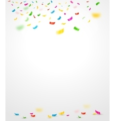 Colorful confetti vector image vector image