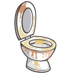 dirty toilet bowl vector image