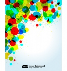paint splashes corner vector image vector image