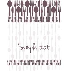 Restaurant menu card design vector image