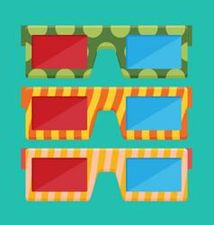 3d glasses of flat vector image
