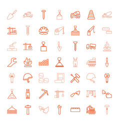 49 build icons vector image
