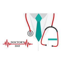 a doctors suit or lab coat with stethoscope vector image