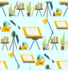A set working tools for architect to work vector