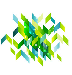 abstract colorful overlapping geometric isolated vector image