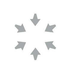 Arrow pointing swirl geometric symbol vector