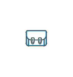 bag icon design photography and video icon line vector image