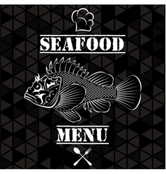 Banner with fish for the restaurant menu vector