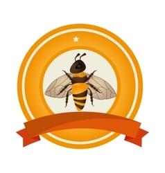 bee animal product icon vector image