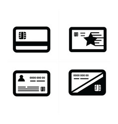 black and white credit card vector image