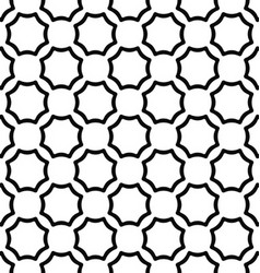 Black and white seamless curved octagon pattern vector