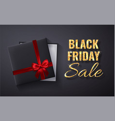 black friday sale golden glitter sparkleopen vector image