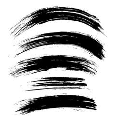 Black ink brush strokes background vector
