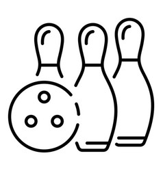 Bowling victory icon outline style vector